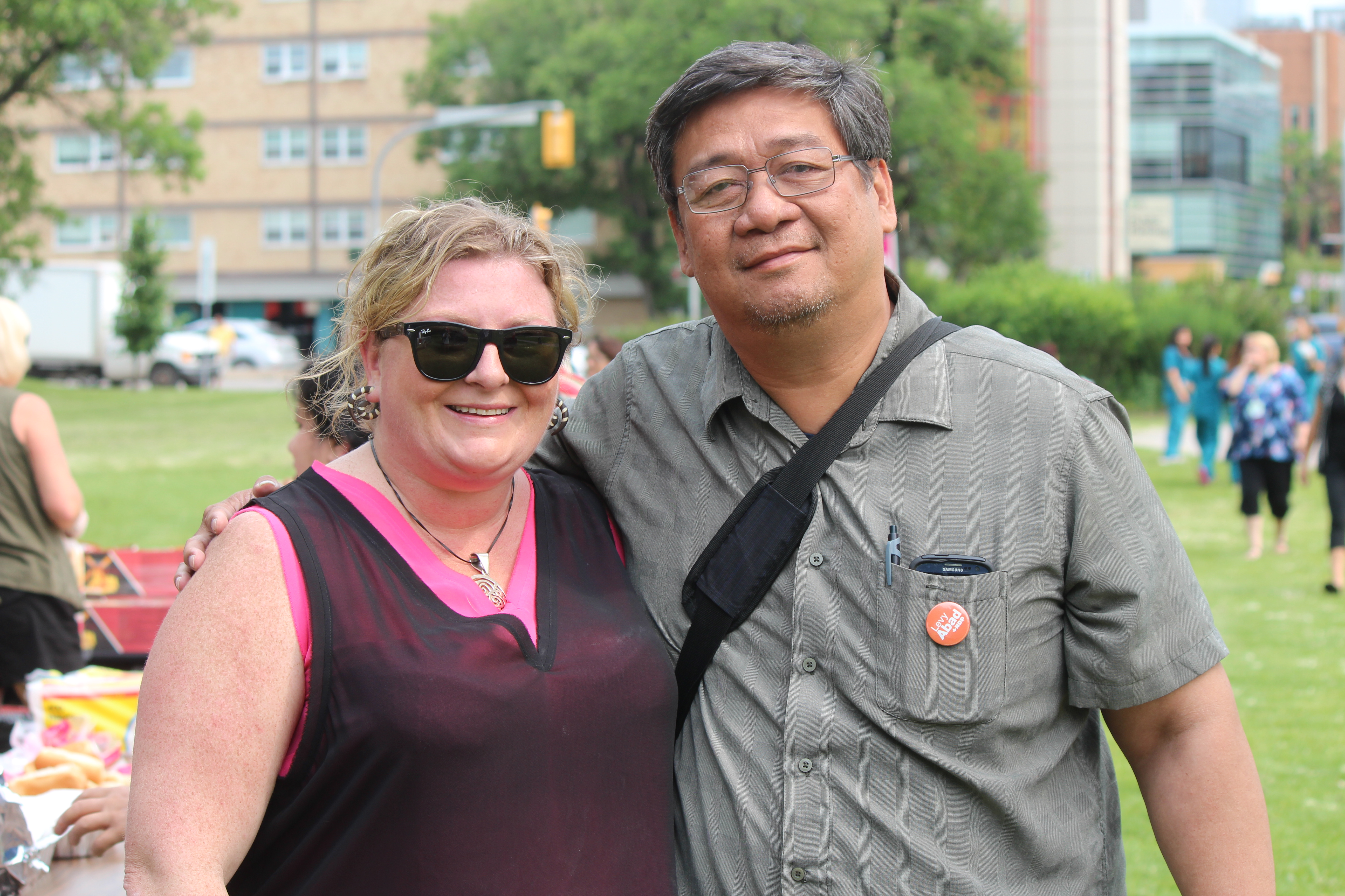 Kelly with Levy Abad, songwriter, musician and Filipino activist