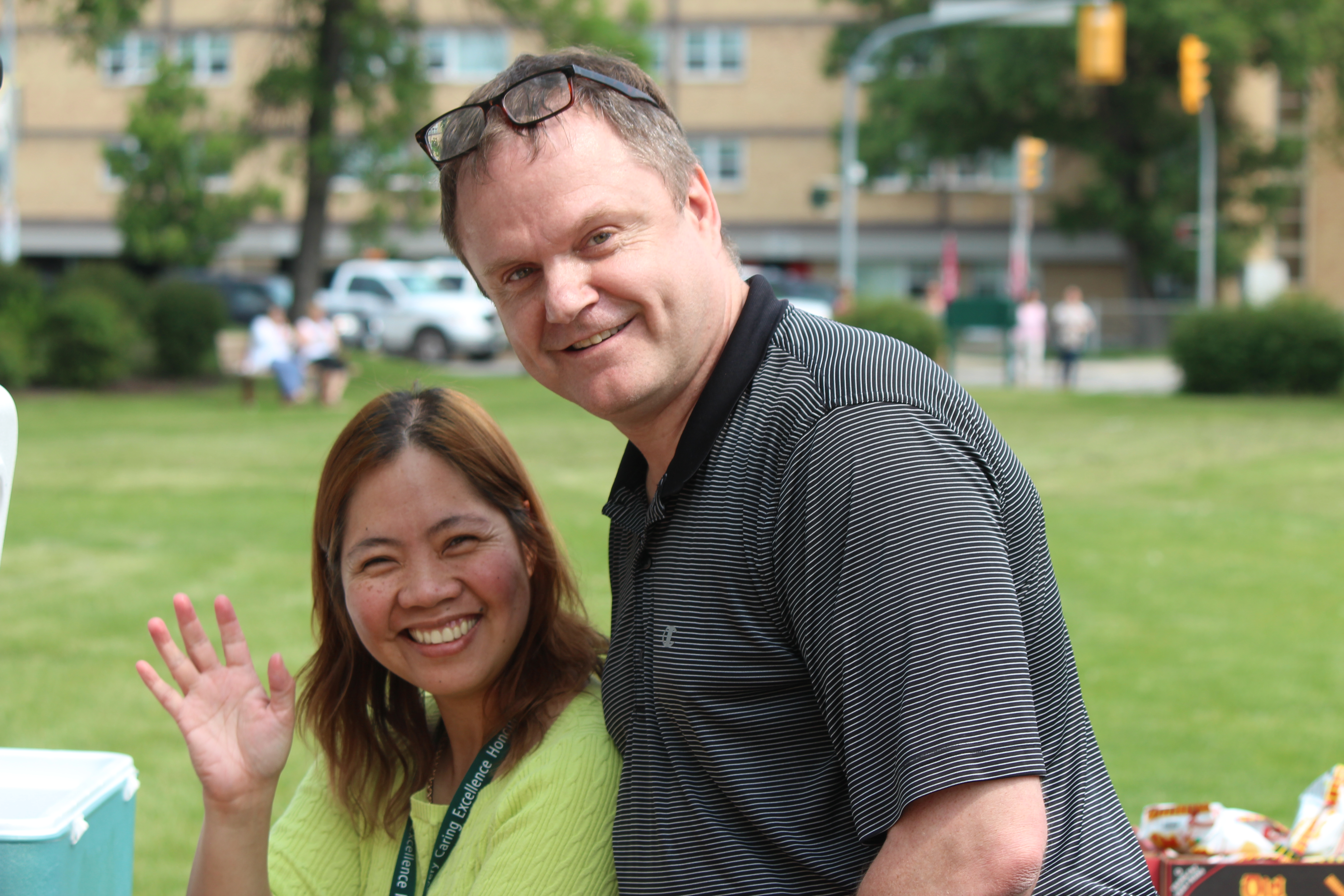 Local 1550 President with Mylin, a hardworking volunteer from the CUPE Local 500, WRHA group.